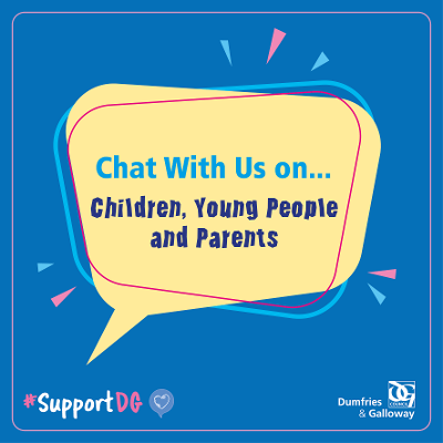 Chat with us on - Children, Young People and Parents Icon