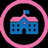 Schools building icon